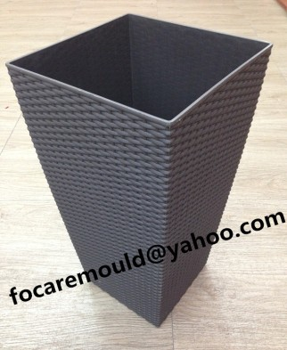 rattan design flower pot mould