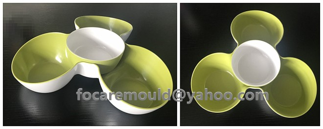 two color mold dried fruit tray